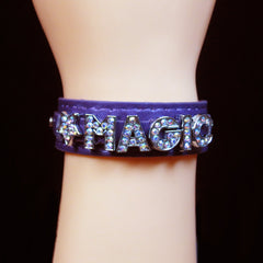 Magic - Purple Leather Wristband