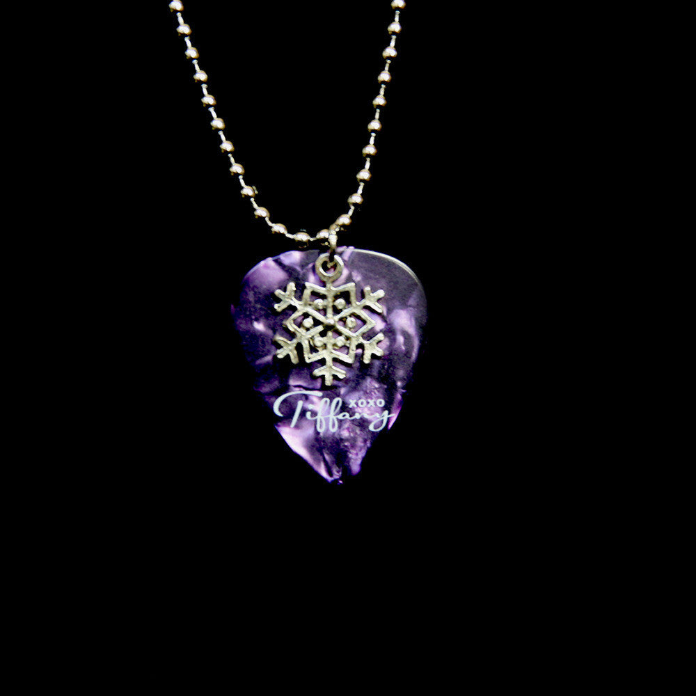 Purple Snowflake Charm