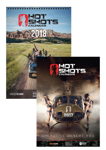 Hotshots 2019 Calendar A4 Pack - 2 3D Posters - Playing Cards