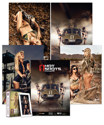 Hot Shots Calendar Bundle 2017 & 2018 (2 Calendars)