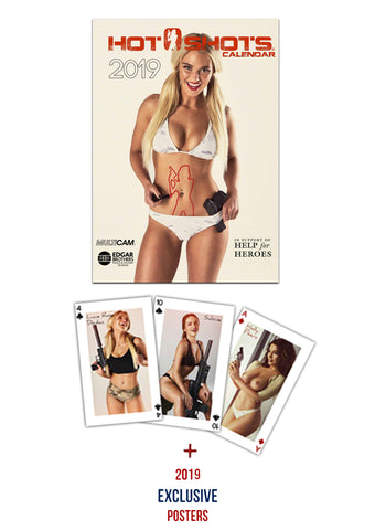 Hot Shots Calendar 2017 Pack (A4 Calendar, Playing Cards & 4 Posters)