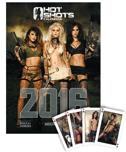 Hot Shots Calendar & Playing Cards Bundle 2016 (NSFW)