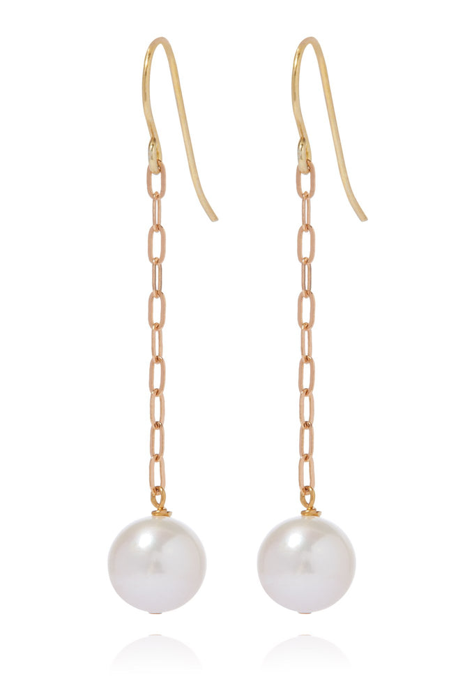 Candida Earrings with One Pearl