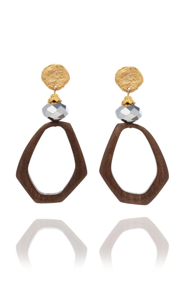 Isolde Wooden Earrings