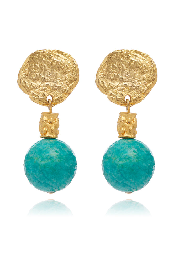 LaurenceCoste_Earrings_Gold_Turquoise_London