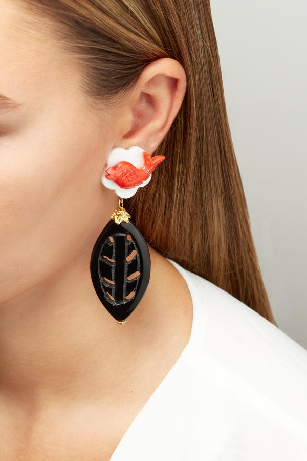 Tara Coral Earrings
