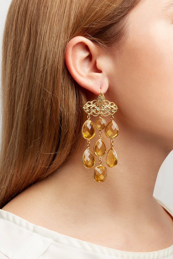 Leila Citrine Earrings