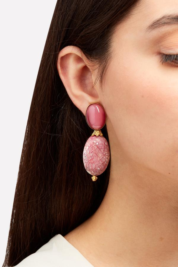 Peony Mother of Pearl Earrings