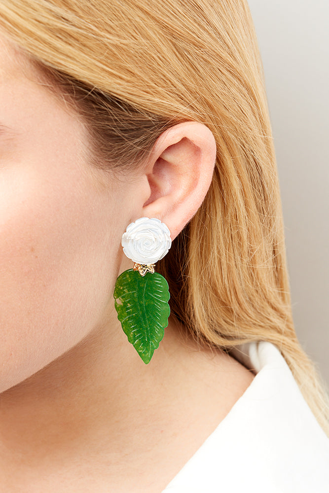 LaurenceCoste_Earrings_Motherofpearl_green_London