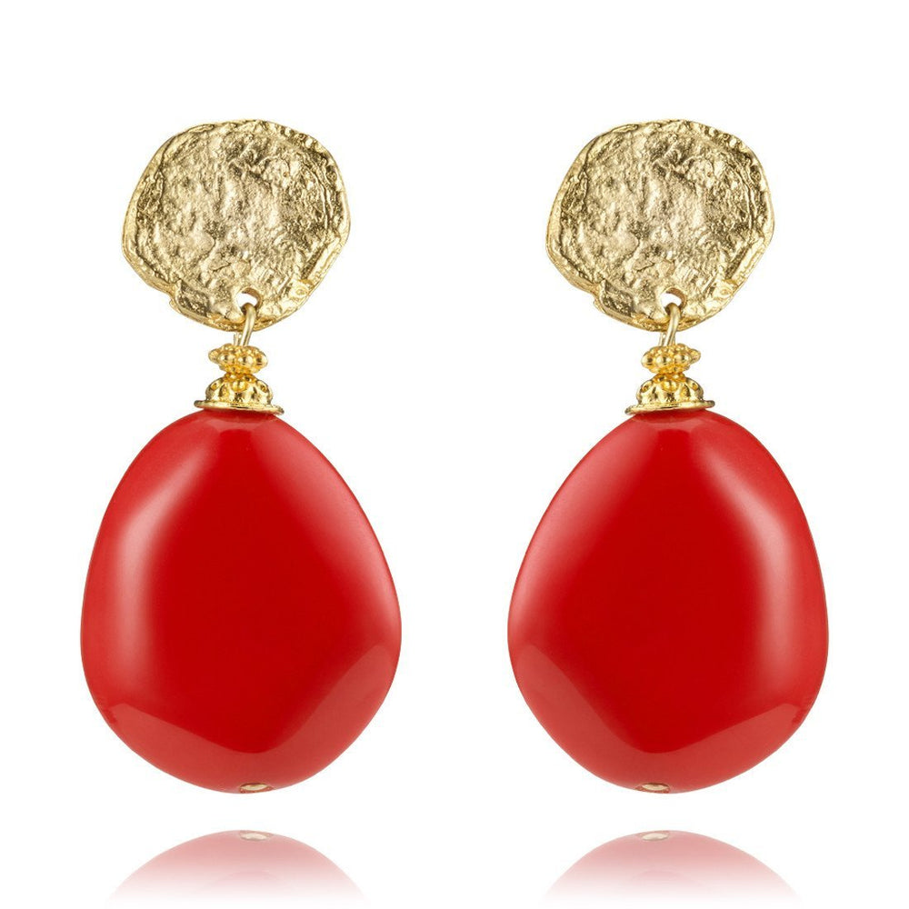 Red Tutti Frutti Earrings