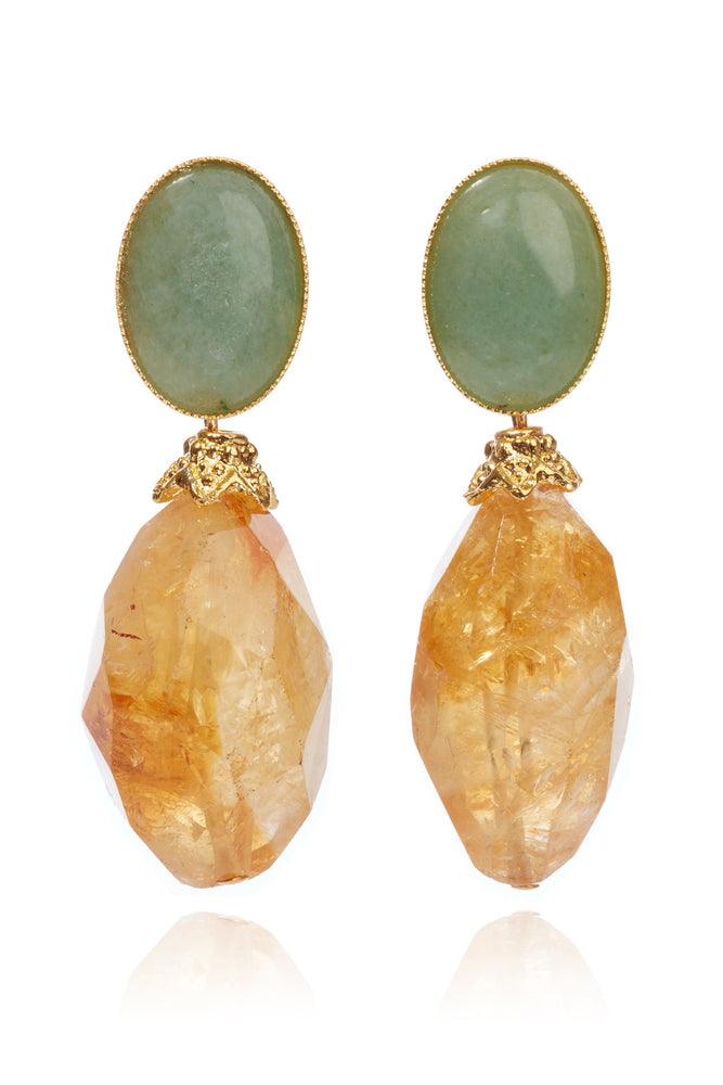 Giselle Citrine  Earrings