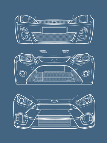 Focus RS Evolution - Line art print