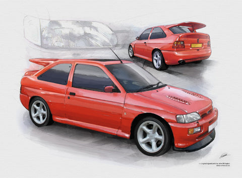 Ford Escort RS Cosworth Small Turbo