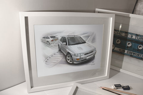 Ford Escort RS Cosworth in White