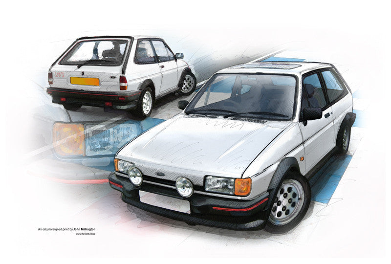 ford fiesta xr2 mk2 auto artwork. Black Bedroom Furniture Sets. Home Design Ideas
