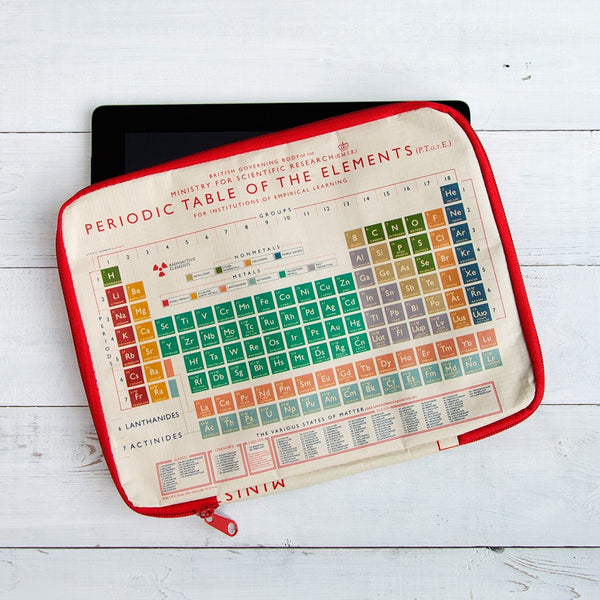 Periodic Table Tablet Case