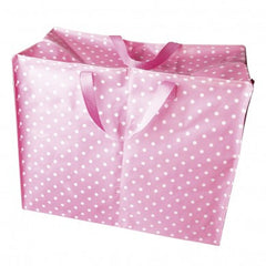 Pink & White Spot Storage Bag/Sleepover Bag