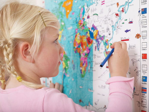 Your World Giant Colouring Map with Pens