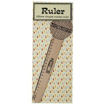 Pop Princess Microphone Wooden Ruler