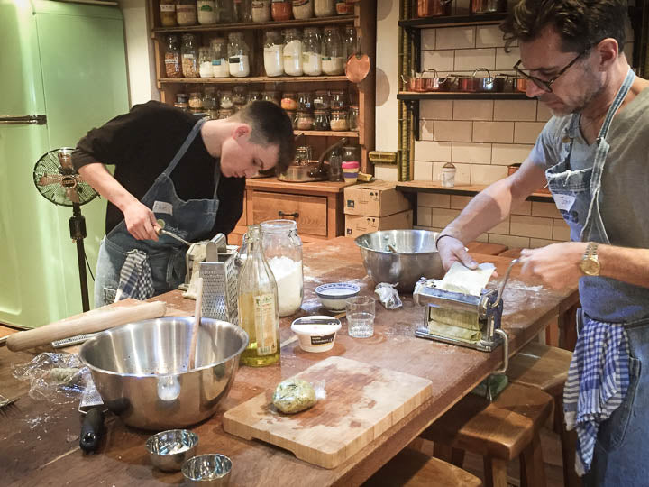 Pasta making classes at Food at 52