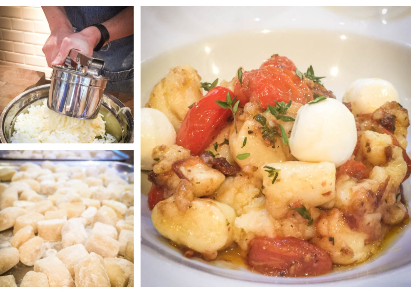 Learning to make gnocci at Food at 52
