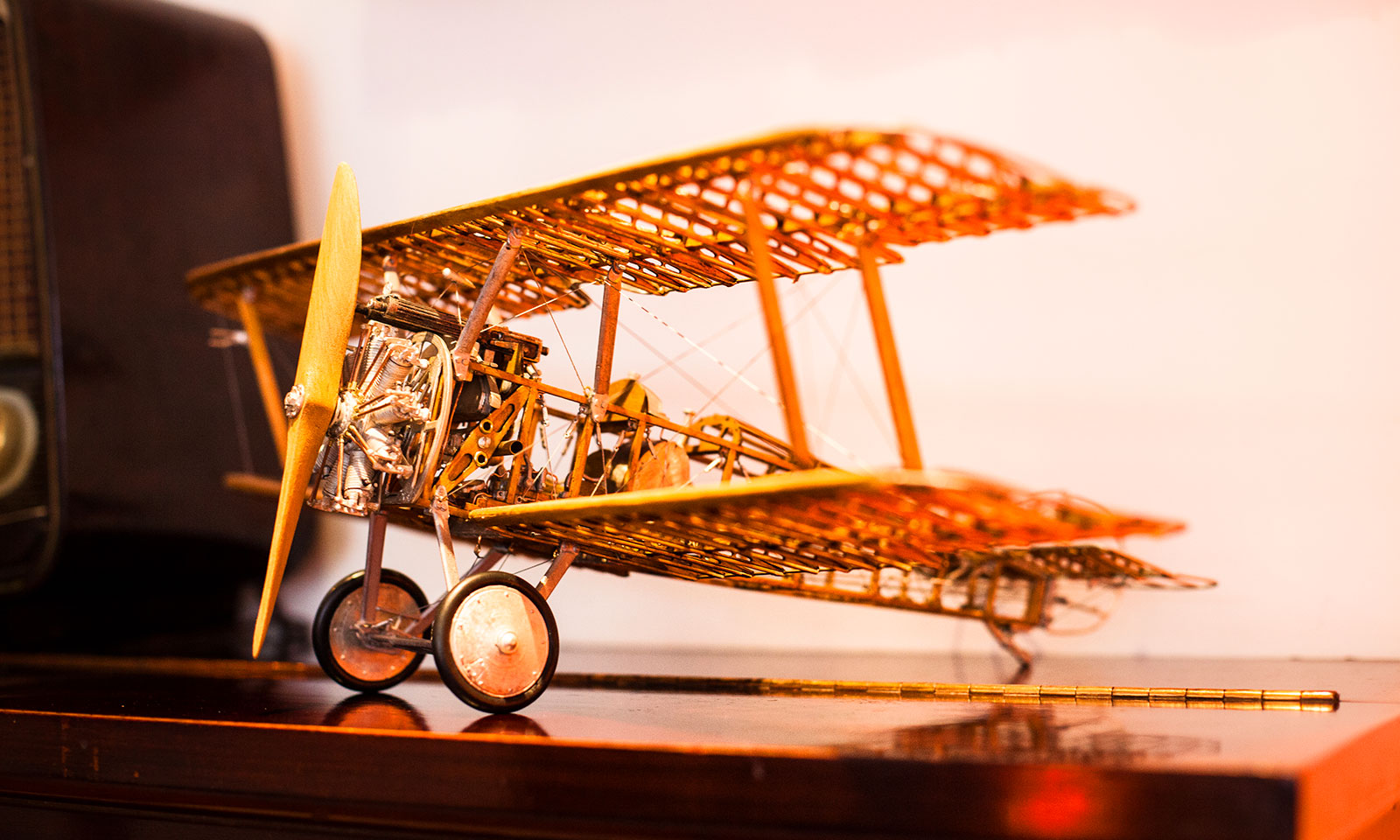 A model airplane on our piano. We love the little touches.