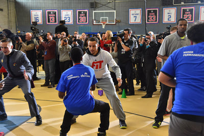 Pat The Roc Hosts NBA Clinic With Stephen Curry And Lebron James!