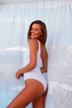 Georgia One Piece White - BONDI VENUS