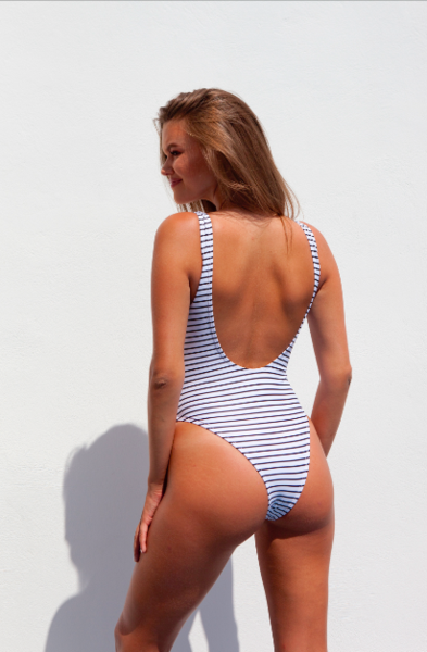 Gigi One Piece stripes - BONDI VENUS