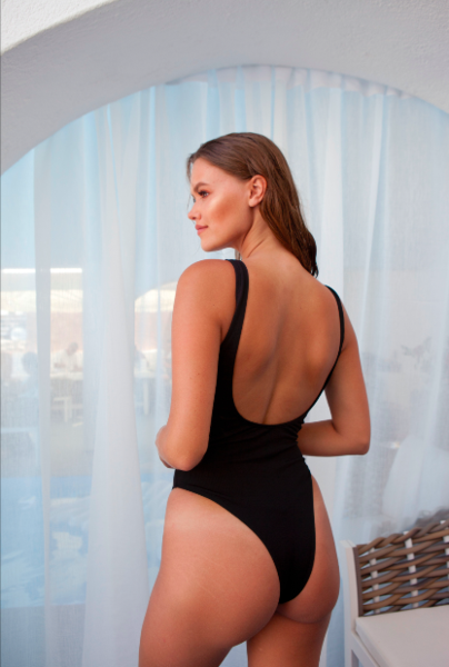 Gigi One Piece ribed black - BONDI VENUS