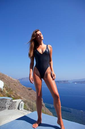 Dylan One Piece black shine - BONDI VENUS