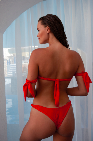 Ruby bikini BOTTOM red - BONDI VENUS