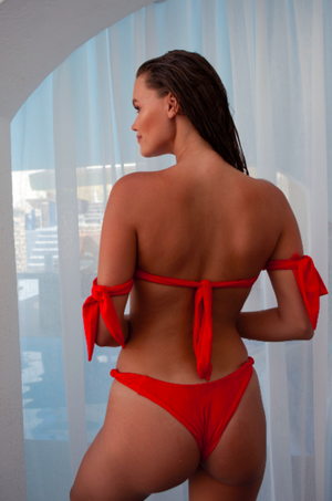 Ruby bikini SET (bottom+top) red - BONDI VENUS