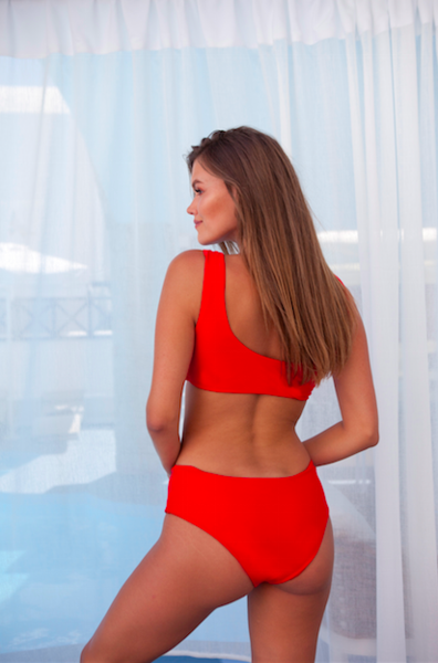 Hannah bikini SET (bottom+top) red - BONDI VENUS