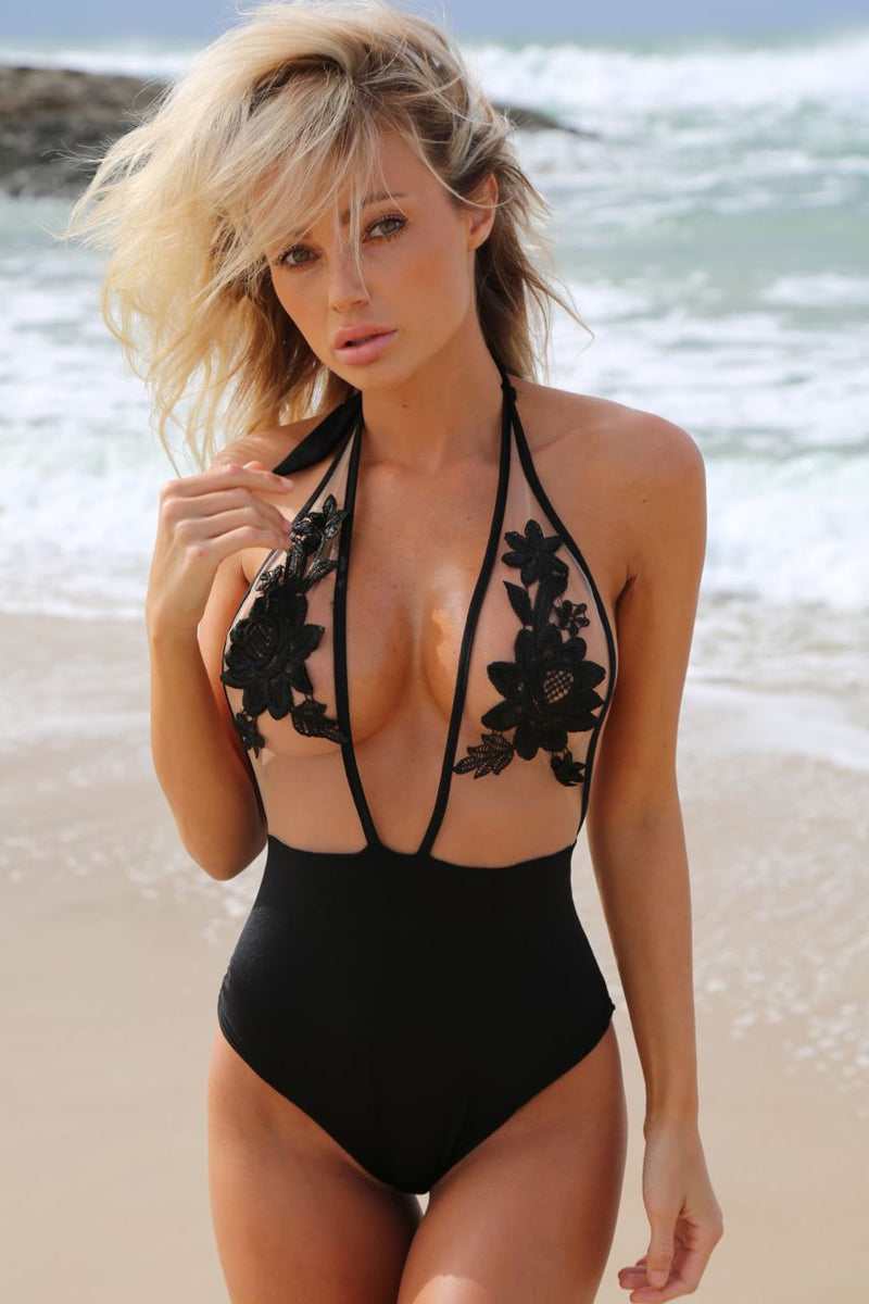 Lola One Piece black - BONDI VENUS