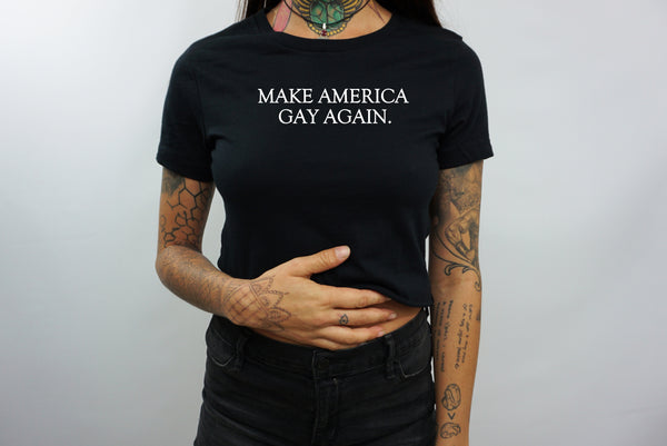 AMERICA GAY CROP TOP