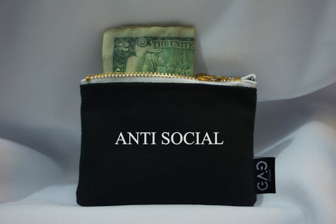 Anti Social Zipper Wallet