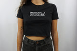 EMOTIONALLY CROP TOP