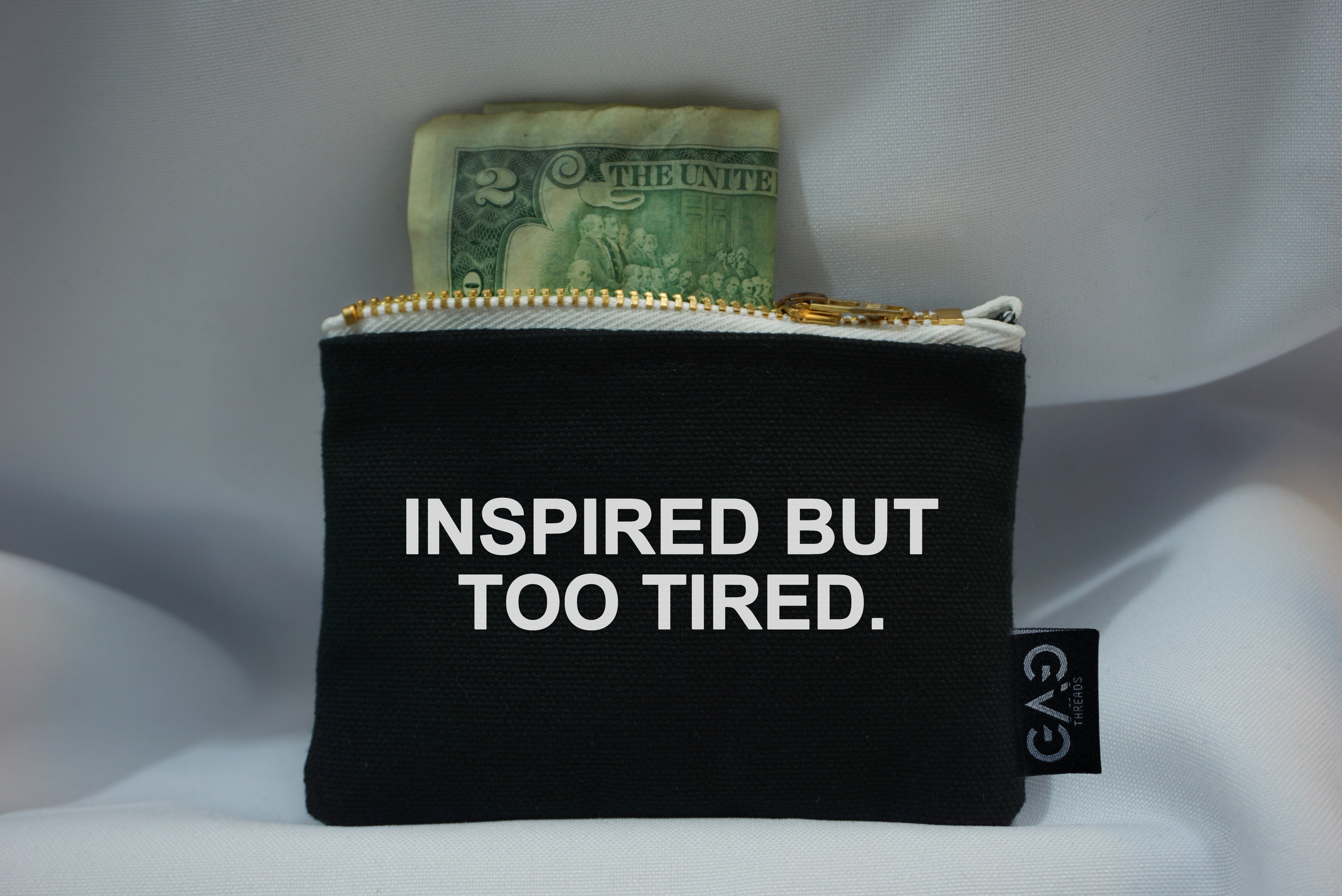 Inspired But Too Tired Zipper Wallet