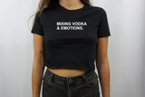 MIXING VODKA CROP TOP
