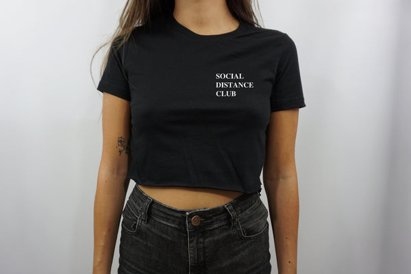 SOCIAL DISTANCE CLUB CROP TOP