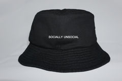 SOCIALLY UNSOCIAL BUCKET HAT