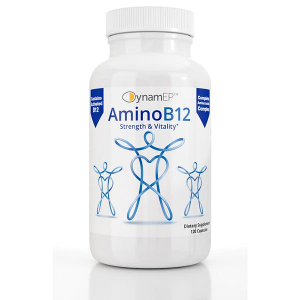 AminoB12 for Strength & Vitality: with DynamEP™ YTE®, MecobalActive® B12, & BioPerine®