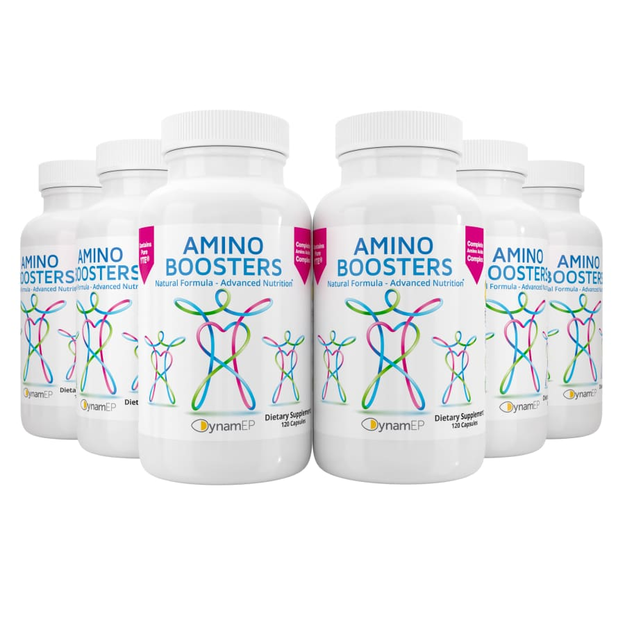 AminoBoosters BIG 6 Bundle - 6 Bottles - INCREASED SAVINGS