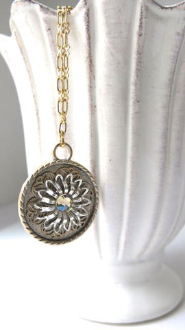 Medallion Collage Gold Necklace
