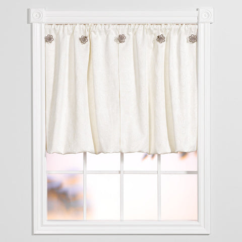 Window Origami™ Elegant Floral - White on White
