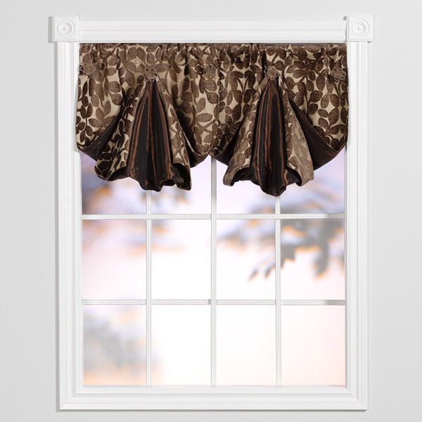 Window Origami Lovely Leaves Beige And Brown