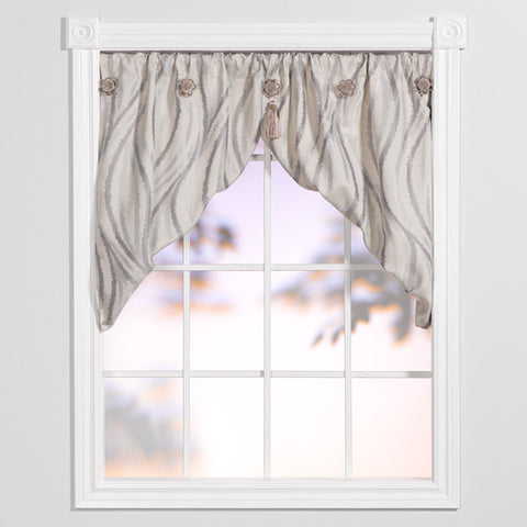 smokey waves angled valance