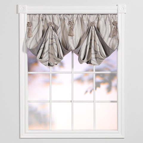 smokey waves fan valance