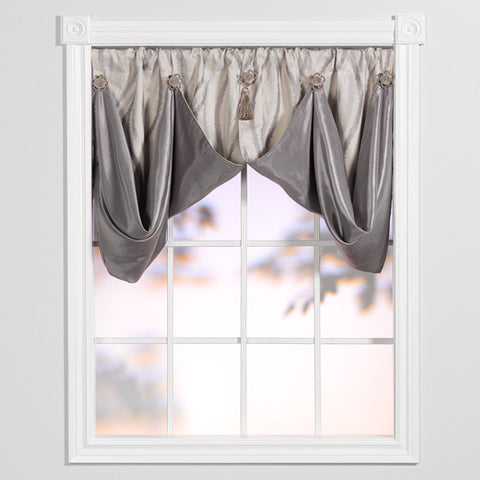 smokey waves whimsical valance